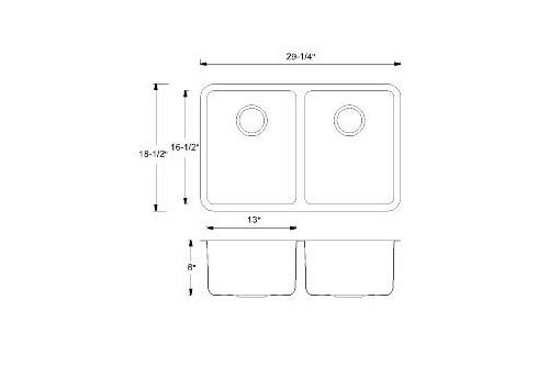 Double Handmade Kitchen Sink